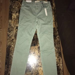 Pastel Green PacSun Jeggings